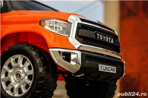 Masina Toyota Tundra 2x45W 12V 7Ah PREMIUM, Scaun tapitat, ROTI MOI #Orange - imagine 1