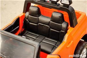 Masina Toyota Tundra 2x45W 12V 7Ah PREMIUM, Scaun tapitat, ROTI MOI #Orange - imagine 10