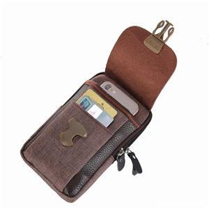 Geanta / borseta pt acte, bani, carduri, telefon prindere la curea  - imagine 4
