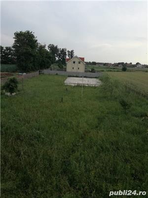 Vand teren cu fundatie si proiect pt casa, in Tarian - imagine 1