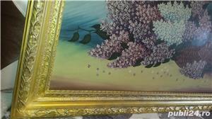 Tablou - Pictură în ulei pe pânză - Coș cu liliac - imagine 6