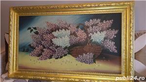 Tablou - Pictură în ulei pe pânză - Coș cu liliac - imagine 8