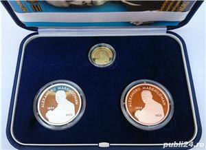 Set monede proof 100 de ani Marea Unire Alexandru M. - editie limitata - imagine 1