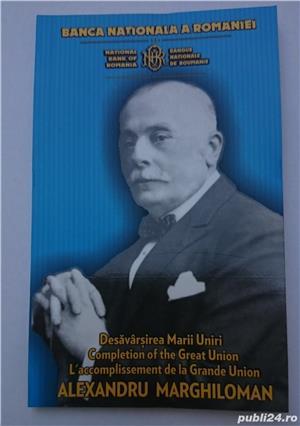 Set monede proof 100 de ani Marea Unire Alexandru M. - editie limitata - imagine 7
