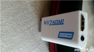 Adaptor Conexiune NINTENDO WII AV la video hdmi si audio - imagine 2