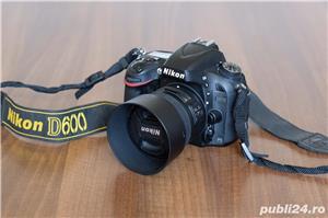 Nikon D600 Full Frame impecabil + grip + obiectiv Nikon 50mm f1.8 - imagine 5