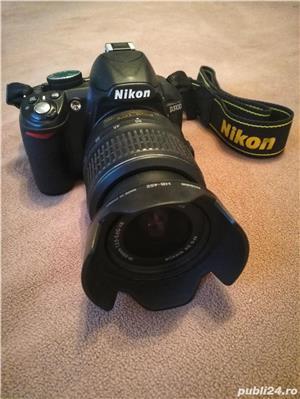 Nikon D3100 + Obiectiv 18-55mm + Card SD 16GB +parasolar  - imagine 1