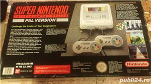 consola SNES,super nintendo,cutie,colectie,super mario world - imagine 2