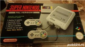 consola SNES,super nintendo,cutie,colectie,super mario world - imagine 1