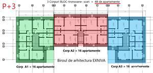 """Teren Bloc=48 apartamente,2-3 Blocuri16+16+16=48 ap)incadrat program """"Prima casă""""/""""O familie,o casă"""" - imagine 5"""