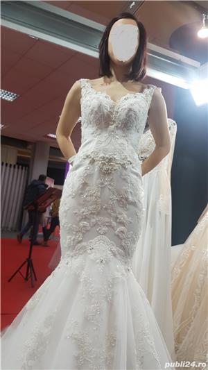 Vand rochie de mireasa model sirena - imagine 7