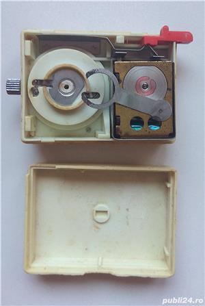 Ceas mecanic Ruhla de voiaj cu sonerie vechi de colectie Made in GDR, piese ceas - imagine 3