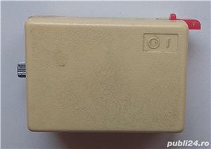 Ceas mecanic Ruhla de voiaj cu sonerie vechi de colectie Made in GDR, piese ceas - imagine 2