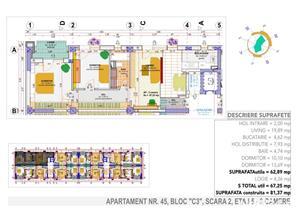 3 camere birou dezvoltator,disponibil imediat - imagine 2