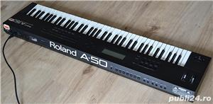 Roland A 50 Master Keyboard Controller 4 MIDI Out Polyphonic Aftertouch 2 MIDI IN Semi Weighted Keys - imagine 1