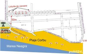 Teren Plaja Corbu Marea Neagra intravilan zona VIP - imagine 2