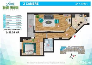 Str. Luica, 2 camere, 60 mp, costructie 2019 - imagine 5