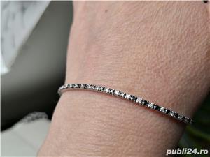 Bratara cu diamante negre si albe model Tennis - imagine 1
