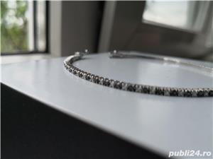 Bratara cu diamante negre si albe model Tennis - imagine 2