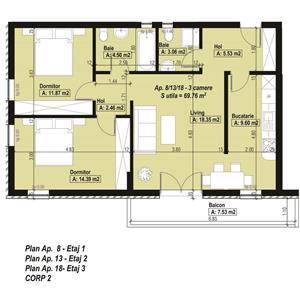 Bloc nou intabulat! Apartamente 3 Camere, langa British School, Aradului; Comision 0% - imagine 4