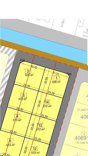 Vand parcela de casa  mosnita noua si de blocuri  la asfalt - imagine 1