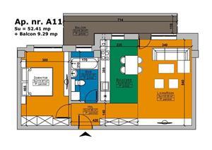 De vanzare apartament cu 2 camere Imobil Cehov - imagine 1