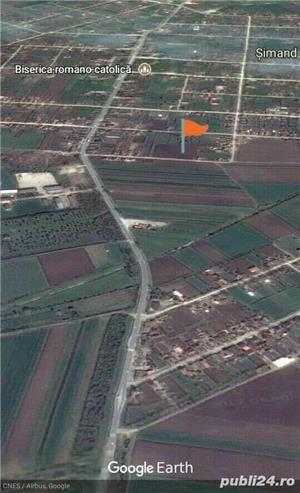 Teren de Vanzare 5755 m//p Com Simand Jud Arad - imagine 1