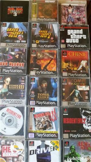 pachet de 110 jocuri ps1,playstation 1,originale,spate negru - imagine 4