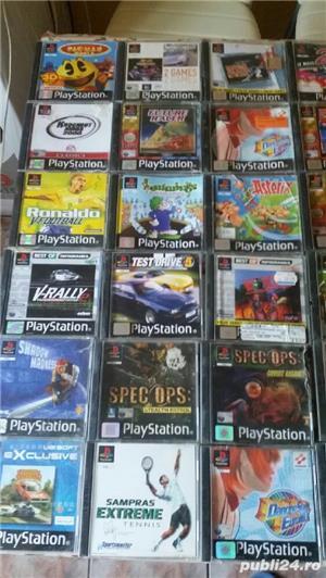 pachet de 110 jocuri ps1,playstation 1,originale,spate negru - imagine 10