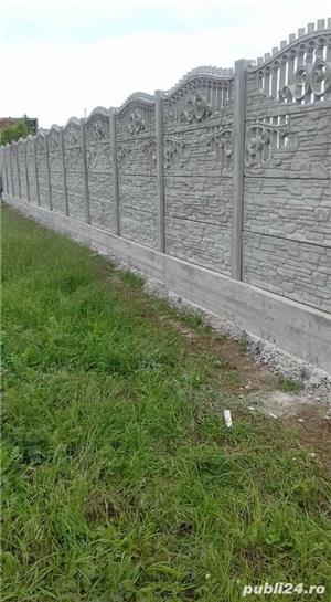 Constructii garduri din plăci de beton - imagine 2