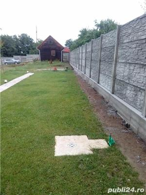 Constructii garduri din plăci de beton - imagine 1