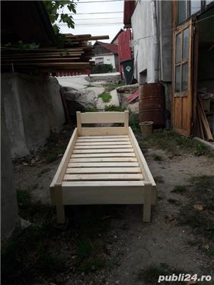 pat din lemn masiv - imagine 3