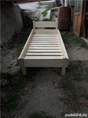 pat din lemn masiv - imagine 2