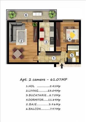 Apartament doua camere, decomandat, disponibil imediat, Confort Urban Rahova - imagine 4