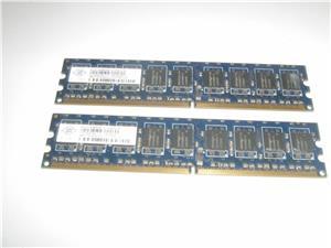 Vand 2x1GB Ram DDR2 NANYA ECC pe 667 MHz - imagine 1