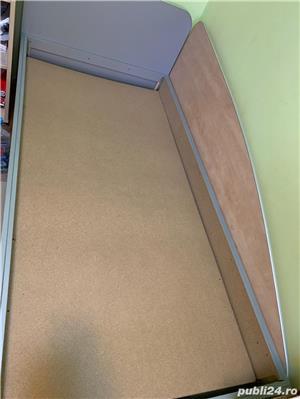 Vand 2 paturi de 1 persoana+ birou cu sertare - imagine 3