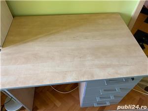 Vand 2 paturi de 1 persoana+ birou cu sertare - imagine 4