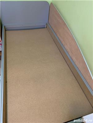 Vand 2 paturi de 1 persoana+ birou cu sertare - imagine 2