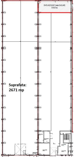 Spatiu industrial de inchiriat 2670 m2 - 2,5 eur/m2 - imagine 6