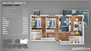Apartament 3 camere- 12 minute de Metrou Dimitrie Leonida - imagine 2