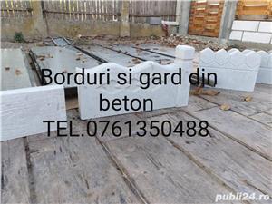 Borduri si gard din beton  - imagine 1