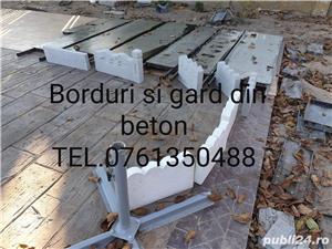 Borduri si gard din beton  - imagine 2