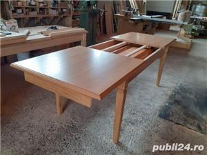 Masă extensibilă din lemn de stejar masiv - imagine 3