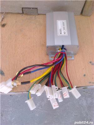 Scuter electric pentru copii, Vespa Roller 350W 24V - imagine 5