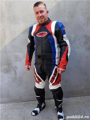 Costum moto AXO Racing (52) perfect! Geaca+ pantaloni - imagine 6