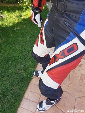 Costum moto AXO Racing (52) perfect! Geaca+ pantaloni - imagine 10