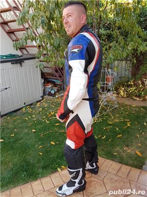 Costum moto AXO Racing (52) perfect! Geaca+ pantaloni - imagine 3