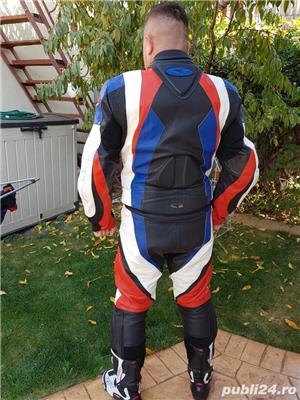 Costum moto AXO Racing (52) perfect! Geaca+ pantaloni - imagine 4
