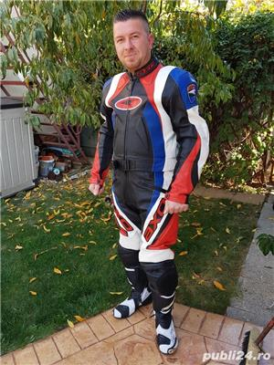 Costum moto AXO Racing (52) perfect! Geaca+ pantaloni - imagine 1