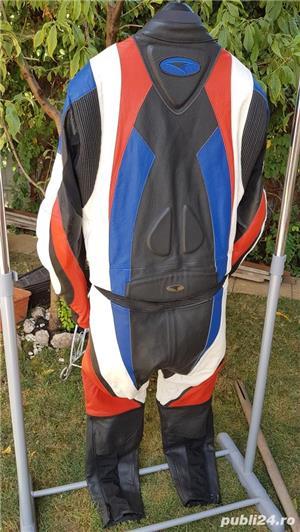 Costum moto AXO Racing (52) perfect! Geaca+ pantaloni - imagine 5
